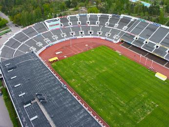 Olympijský stadion při pohledu zvyhlídkové věže