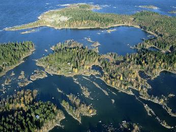 Ostrovy mezi Finskem a Švédskem vBotnickém zálivu