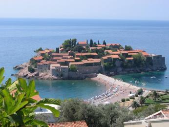 Ostrůvek Sveti Stefan vJaderském moři