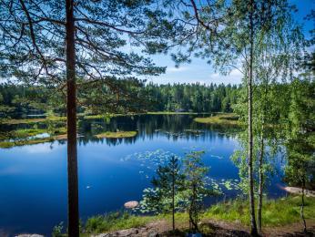 Jedno z mnoha jezer na Finské jezerní plošině