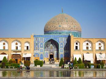 Mešita Šejcha Lotfolláha vIsfahánu, hlavním městě stejnojmenné provincie