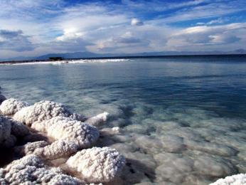 Obrovské solné jezero Urmia