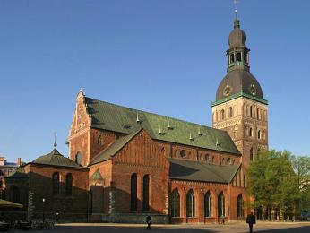 Katedrála, Rígas Dóms, je největší kostel vcelém Pobaltí