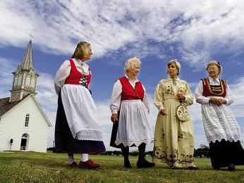 Norské ženy ve svátečním