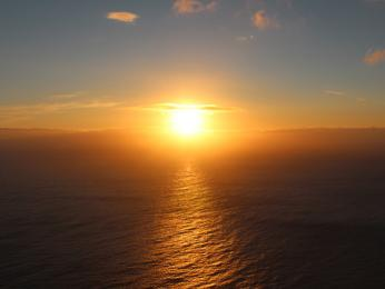 Půlnoční slunce na Nordkappu