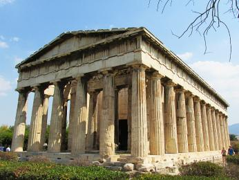Starověký chrám Héfaisteion vAthénách