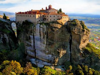 """""""Létající"""" kláštery v Meteoře"""