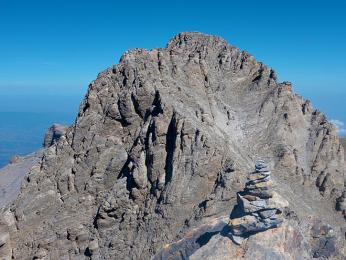 Holý štít Mytikas vpohoří Olymp