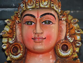 Detail hinduistické bohyně