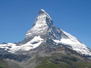 Impozantní hora Matterhorn