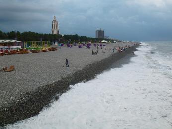 Pláž v Batumi