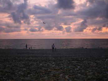 Pláž v Gonio