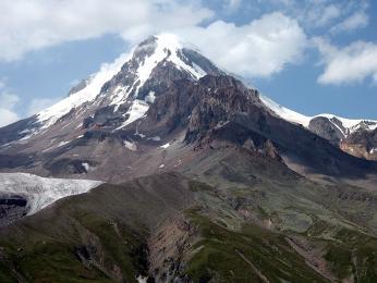 Výhled na Kazbeg