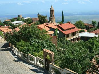 Panorama města Sighnaghi