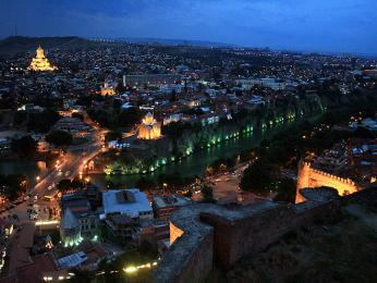 Noční Tbilisi