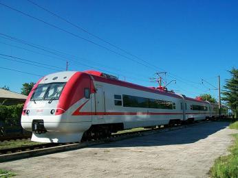 Vlak na trase Batumi-Tbilisi