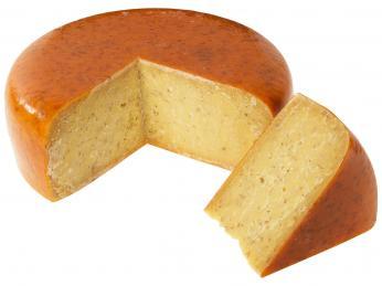 Leidenský sýr zkravského mléka je kořeněný kmínem