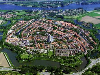 Město Brielle chrání neporušené opevnění z18.století