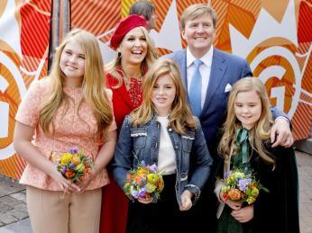 Nizozemský král Vilém Alexandr ajeho rodina