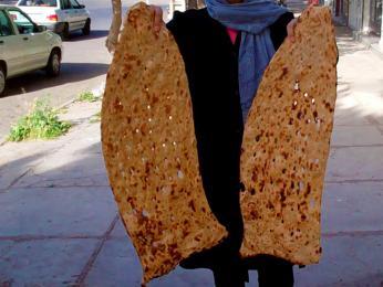 Sangak je íránským národním chlebem