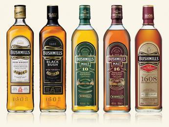 Nejznámějšími značkami irské whiskey jsou Jameson a Bushmills