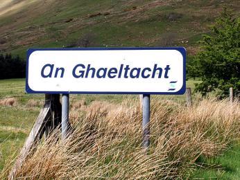 Cedule vymezující území Gaeltacht