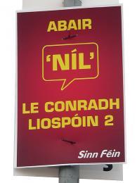 Plakát kreferendu oLisabonské smlouvě virštině