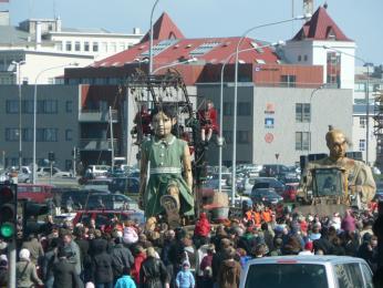 Divadelní představení Royal de Luxe vReykjavíku vroce2007