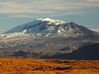 Stále aktivní islandská sopka Hekla