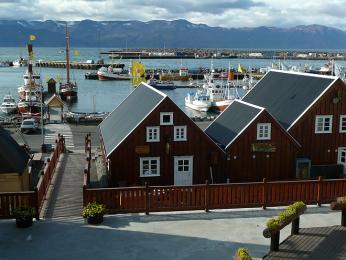 Přístavní městečko Húsavík je místem prvního trvalého osídlení Islandu