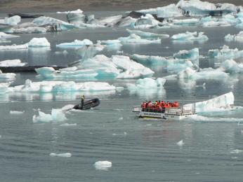 Výlet mezi kry po jezeře Jökulsárlón