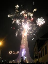 Islandský novoroční ohňostroj