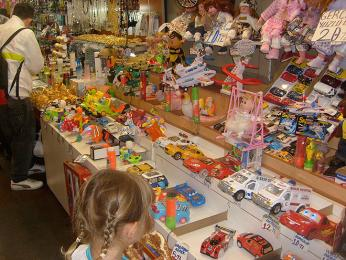 Podchod pod náměstím Eminönü je nejlepším místem pro nákup dětských hraček