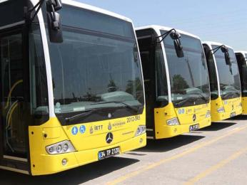 Žluté městské autobusy společnosti IETT