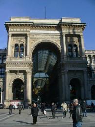 Nákupní třída Galleria Vittorio EmanueleII vMiláně