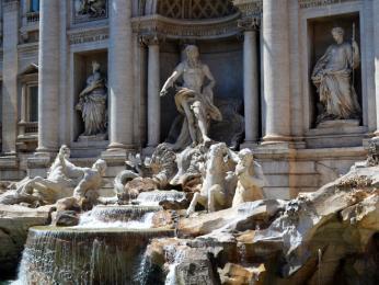 Fontana di Trevi vystavěná vletech 1732 až1762