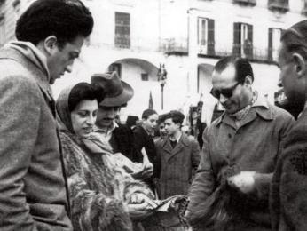 Anna Magnani, Roberto Rossellini aFederico Fellini