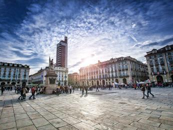Piazza Castello na náměstí vTuríně