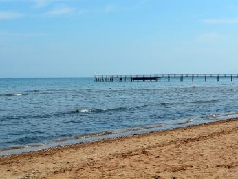 Pohled na pláž vRimini