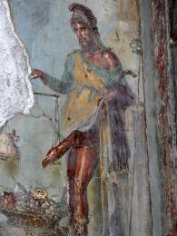 Dům Vettiů - socha boha plodnosti Priapa