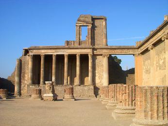 Pozůstatky starořímského města Pompeje