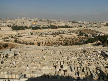 Pohled na Jeruzalém zOlivové hory