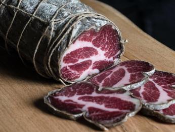 Korsická coppa, sušené vepřové maso