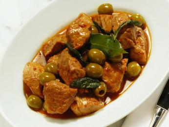 Telecí na olivách neboli veau aux olives