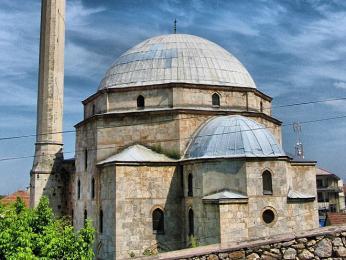 Mešita Sinan Paša - největší mešita vPrizrenu a jeho výrazná dominanta