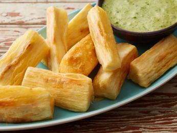 Yuca frita může sloužit jako fast-food
