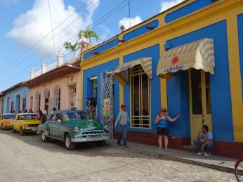 Ulice kubánského koloniálního městečka Trinidad