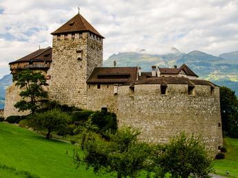 Zámek vlichtenštejnském Vaduzu