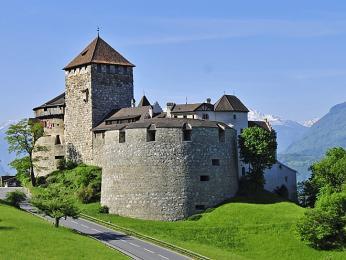 Knížecí zámek vlichtenštejnském Vaduzu
