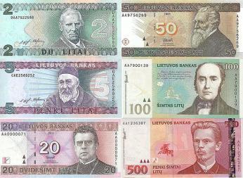 Podoba původních litevských bankovek